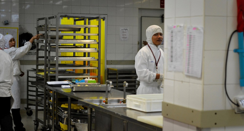 10,000 square meters of the facility is dedicated to food production.