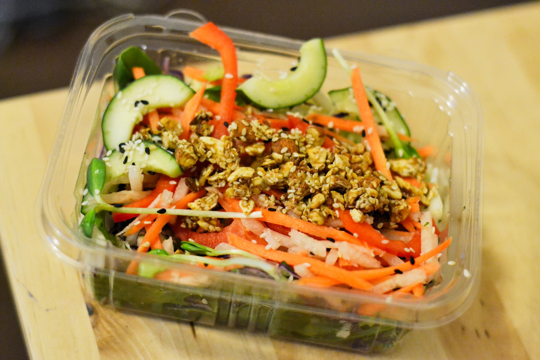 A crunchy salad, part of the Beaming LEAN cleanse