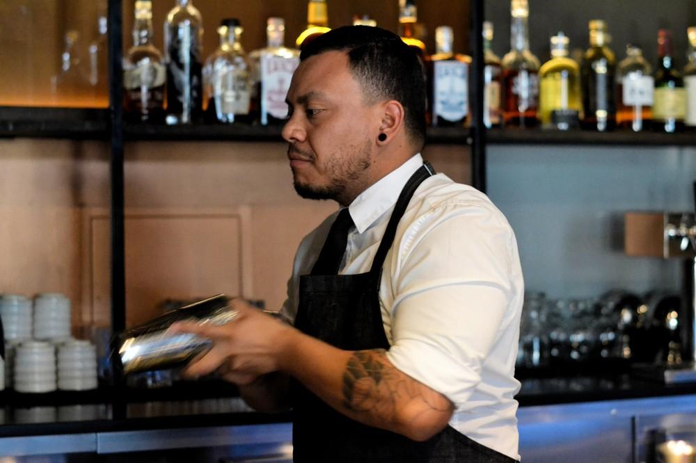 Bar Manager Kevin shakes the Spring Awakening.