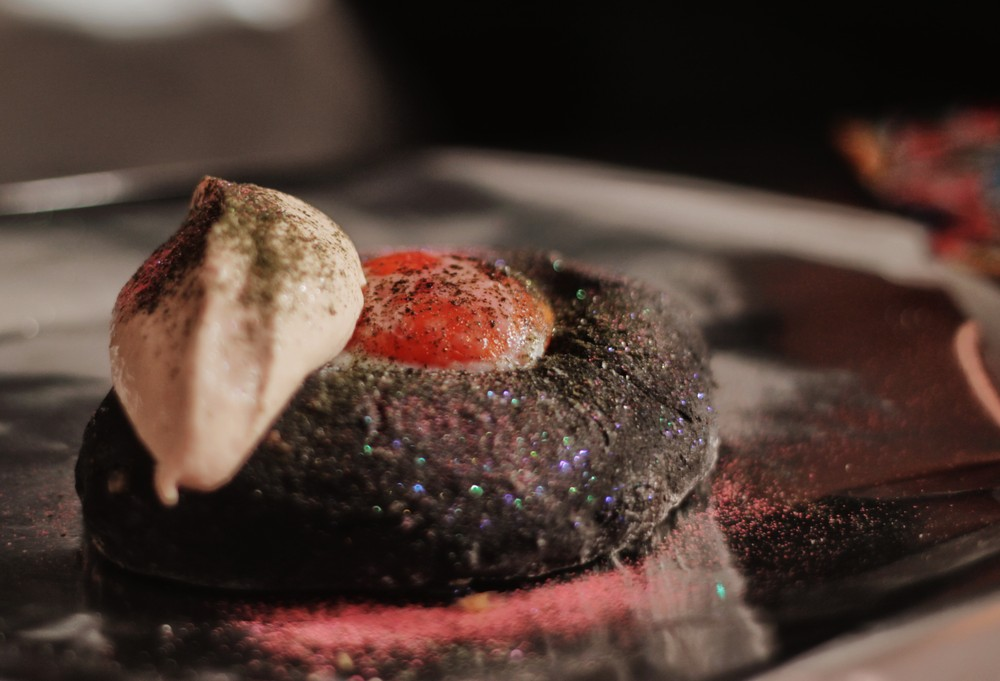 Black axe glitter squid bread