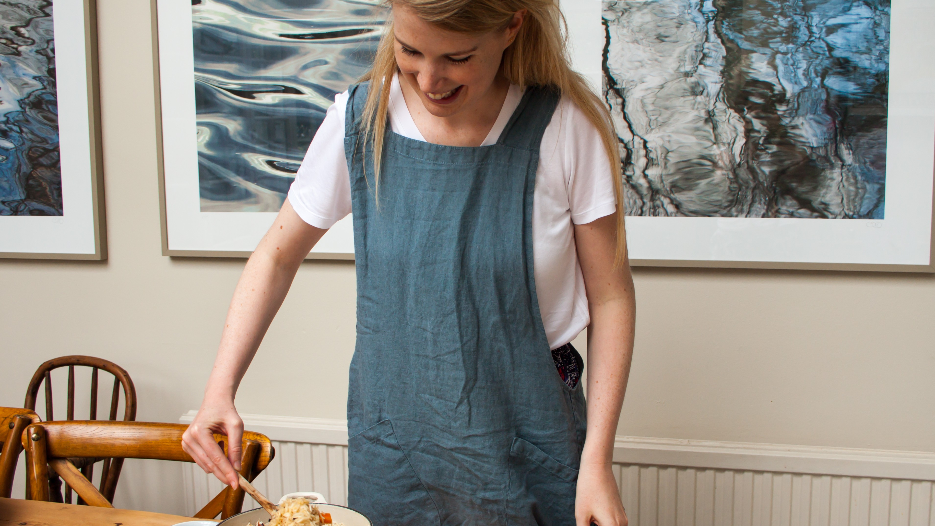Eleanor Ford serves the plov