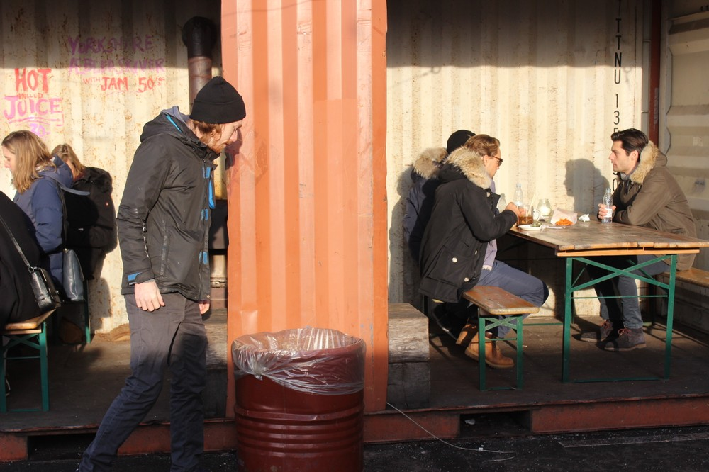 Kristian Nielsen på Papirøens street food marked. Foto: Rosa Lembcke