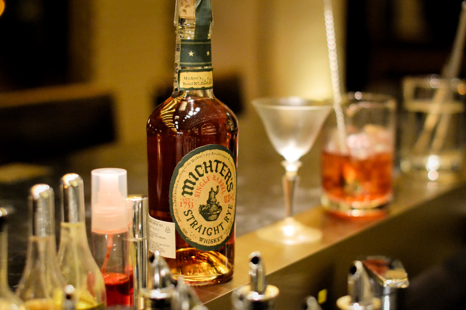 Lowder's efforts nearly doubled Korea's American whiskey selection. Michters is one of the recent whiskey arrivals.