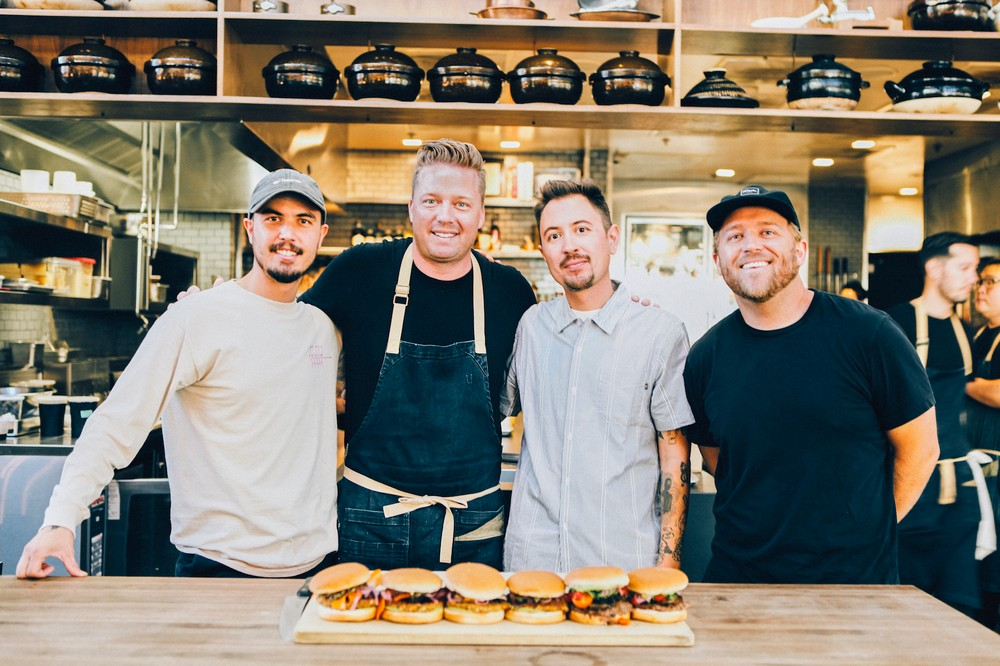 max-tim-fred-and-kevin-before-their-collaboration-burgers-in-the-otium-kitchen-photo-by-taylor-rainbolt