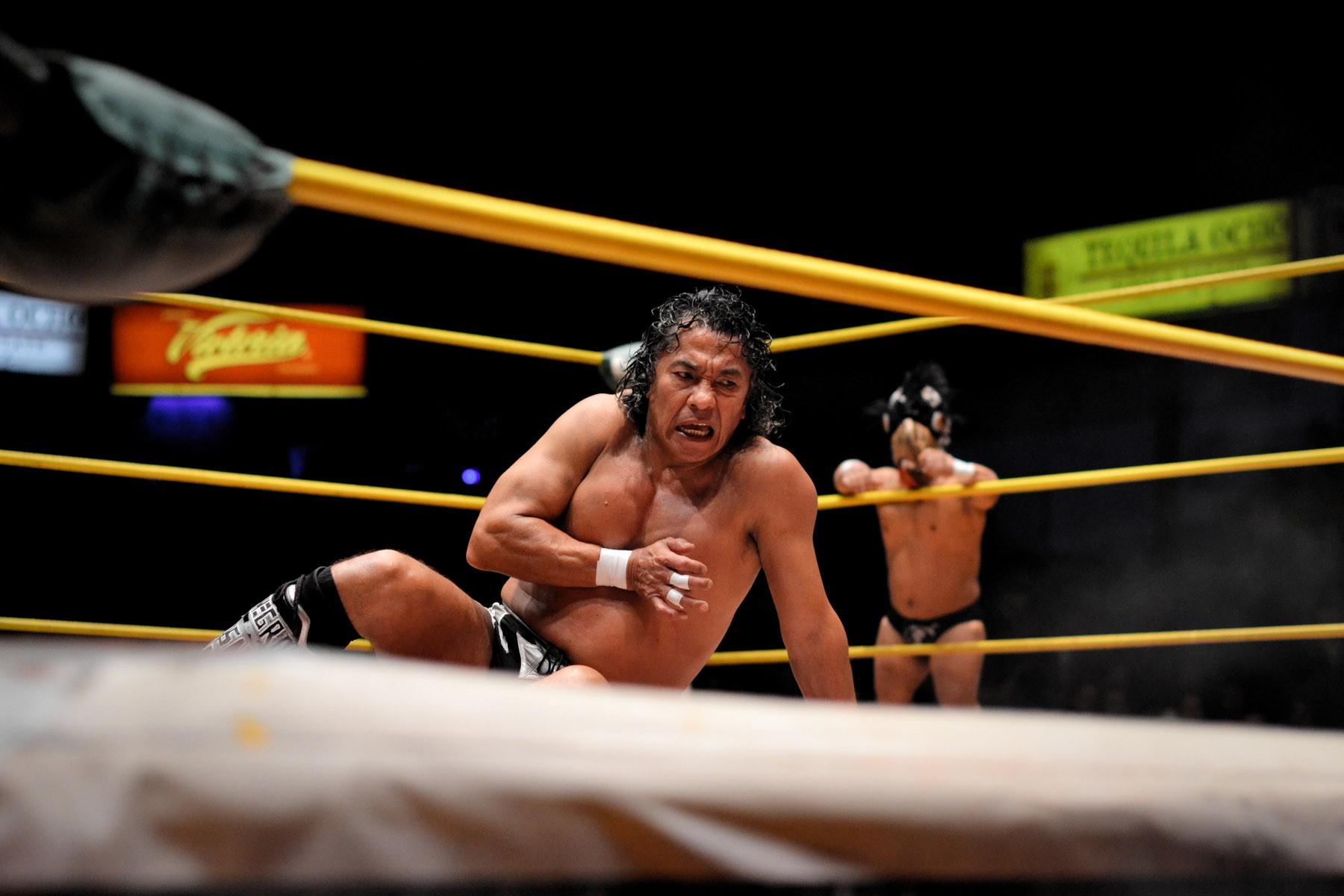 Mexico City native Jose Casas Ruiz aka Negro Casas working his magic in the ring
