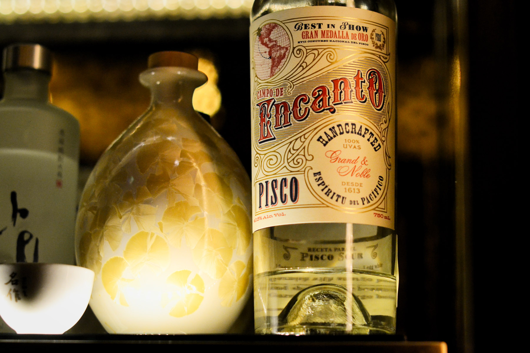 Pisco is only available in Korea thanks to months and months of paperwork and chemical testing.