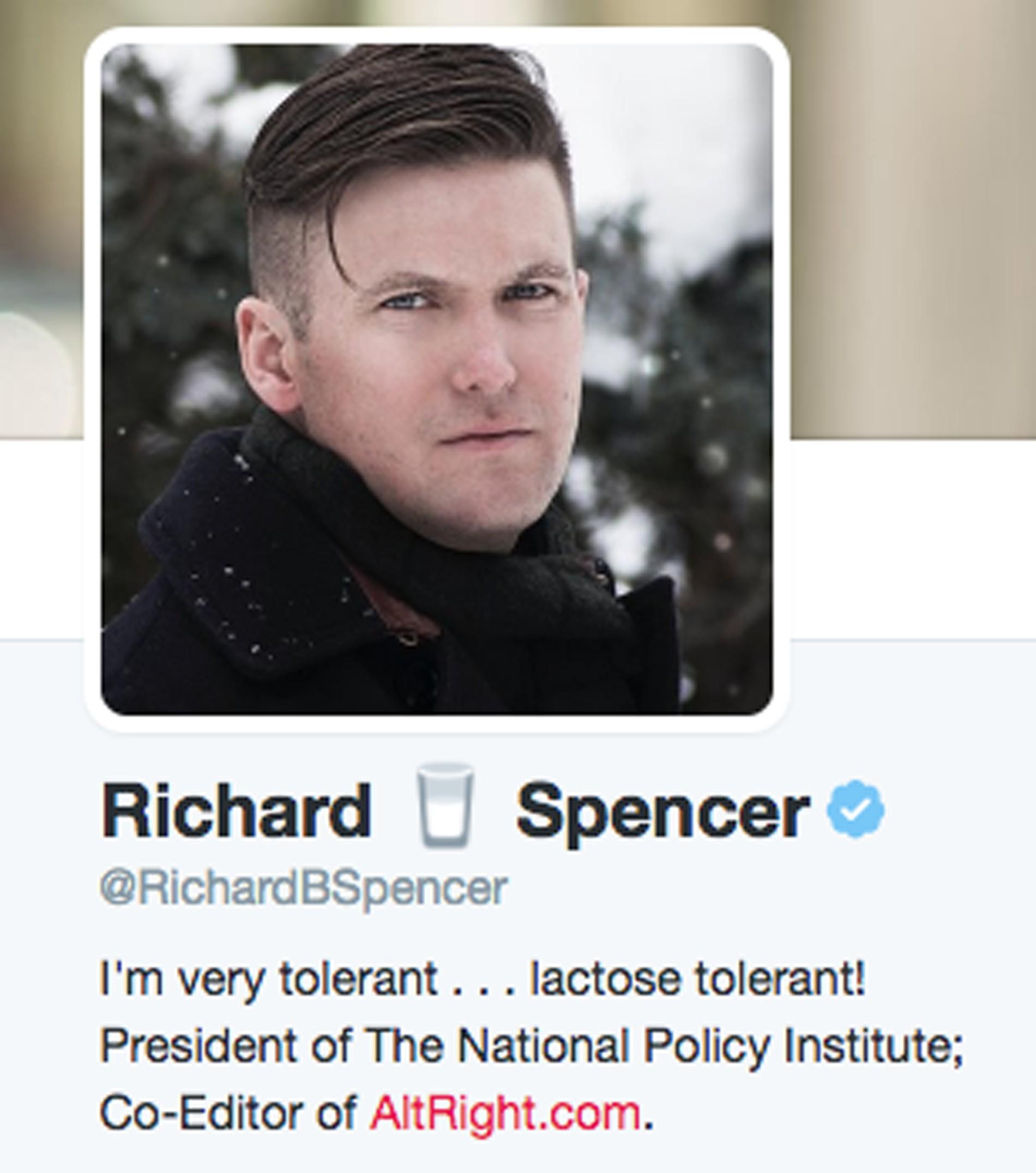 Screengrab via Twitter user @RichardBSpencer