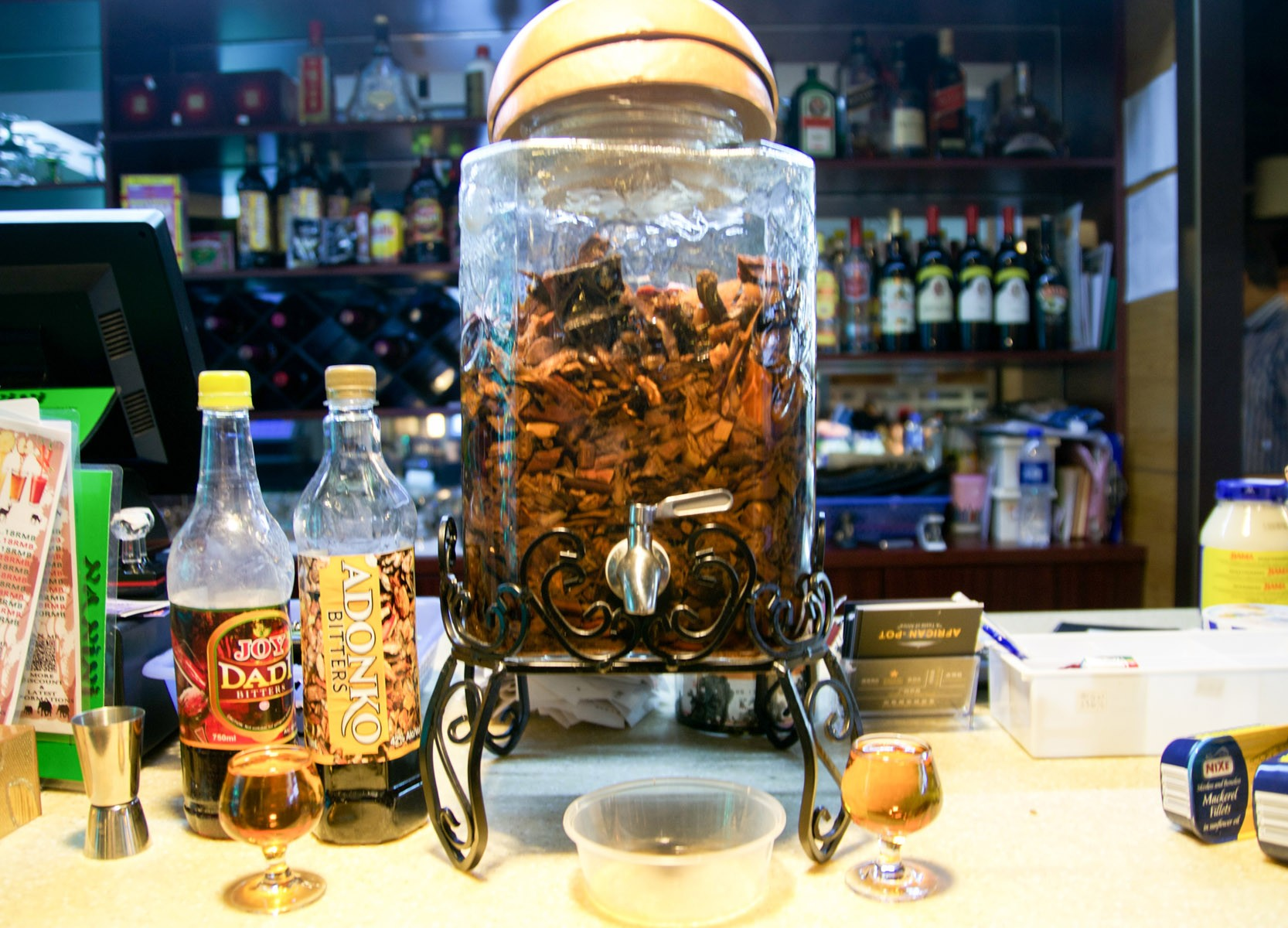 this-jar-holds-a-special-alcohol-elixir-offered-to-guests-photo-by-kait-bolongaro