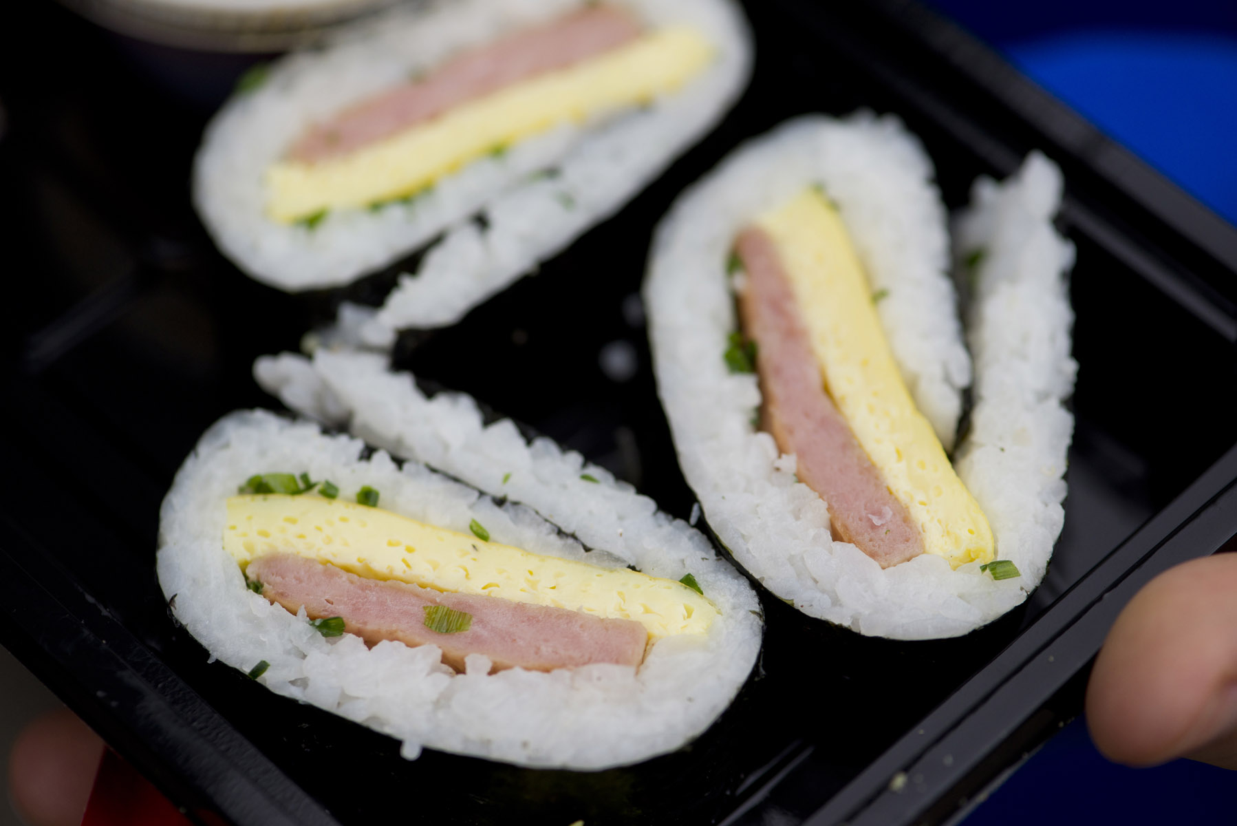 SPAM sushi from Sabino's filled with grilled SPAM, rice and egg at the Minnesota State Fair.