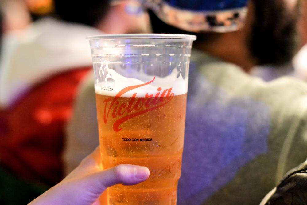 Victoria beer flows plentifully at the stadium