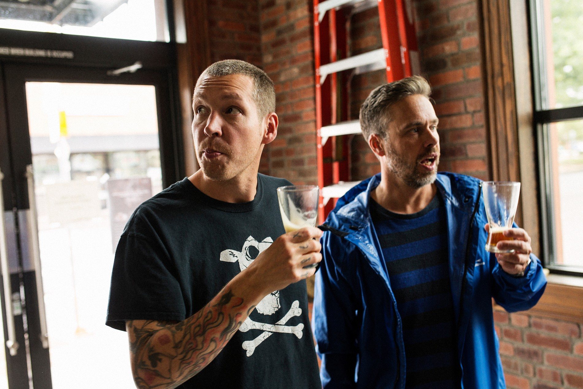 Chefs Lee Cooper and Justin Leboe try
