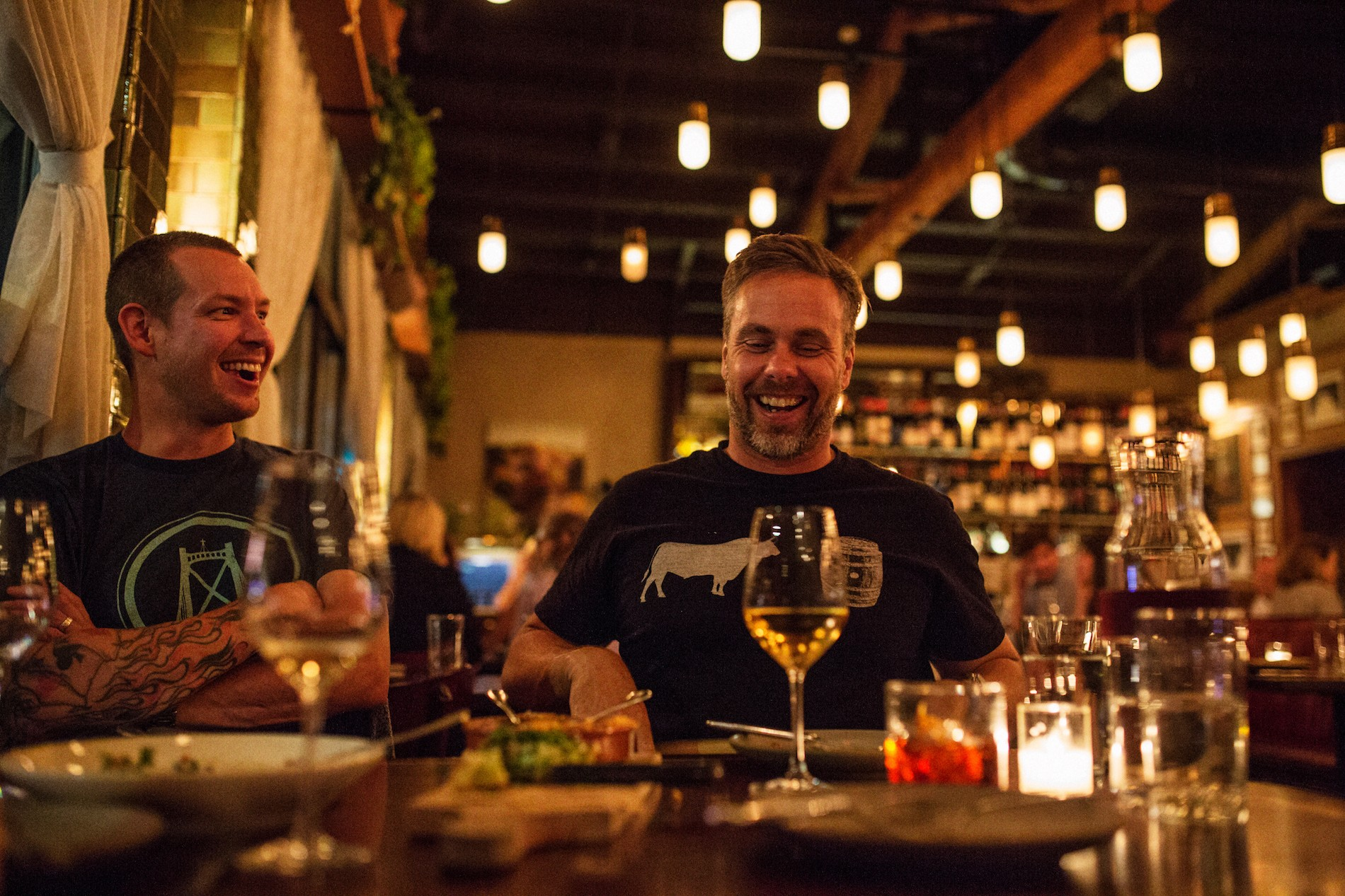 Chefs Lee Cooper and Justin Leboe at Ava Gene's in Portland. Mushrooms in Portland, Oregon. August 2016. Matt Lutton / Boreal Collective for Vice Munchies
