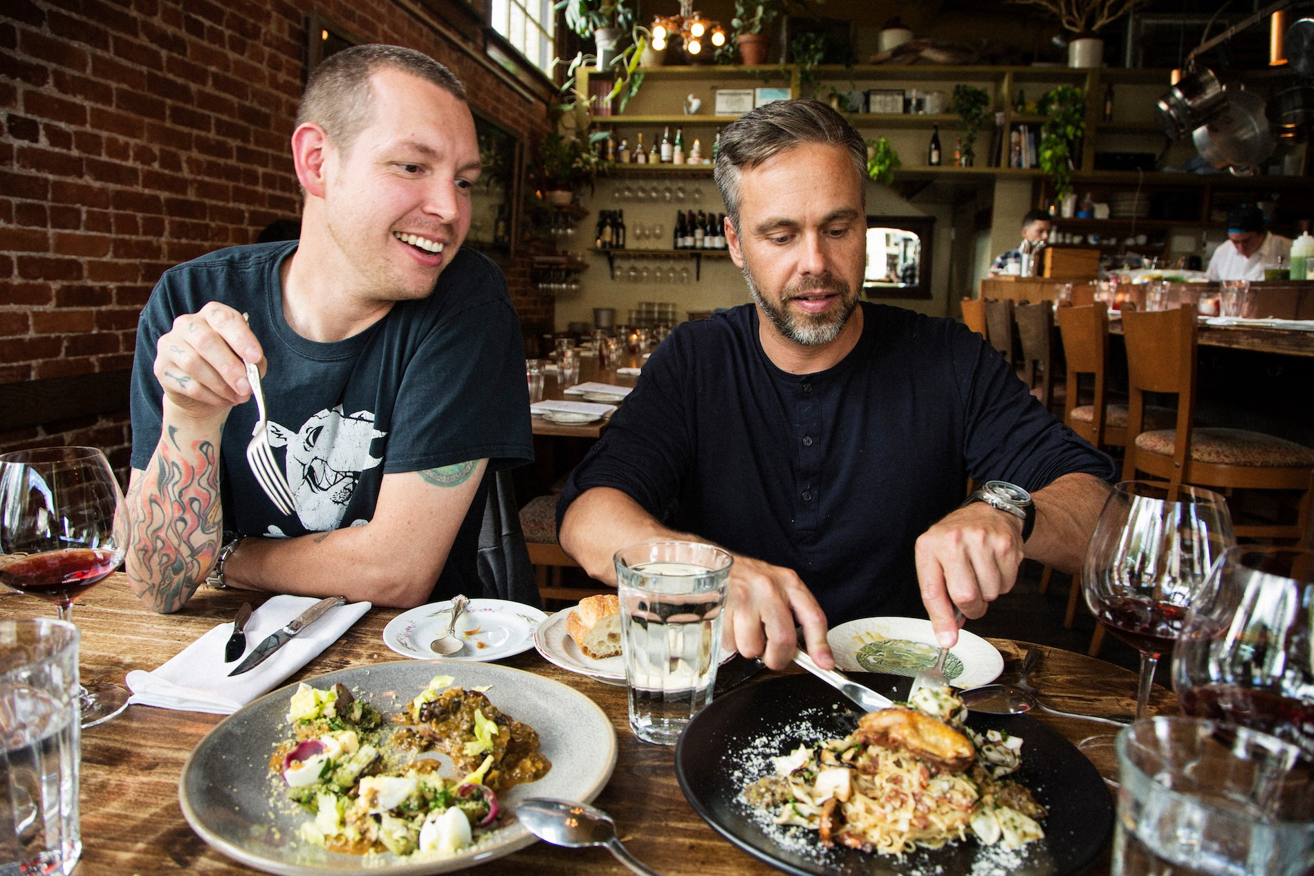 Chefs Lee Cooper and Justin Leboe at Le Pigeon. Mushrooms in Portland, Oregon. August 2016. Matt Lutton / Boreal Collective for Vice Munchies