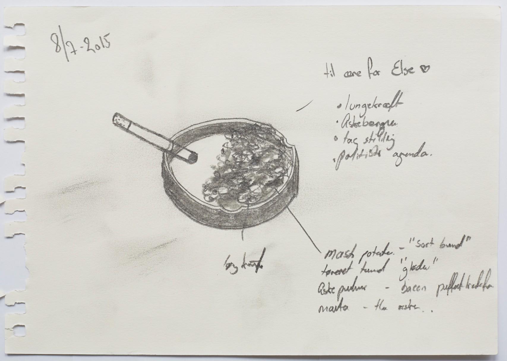 alchemist - ashtray - drawing