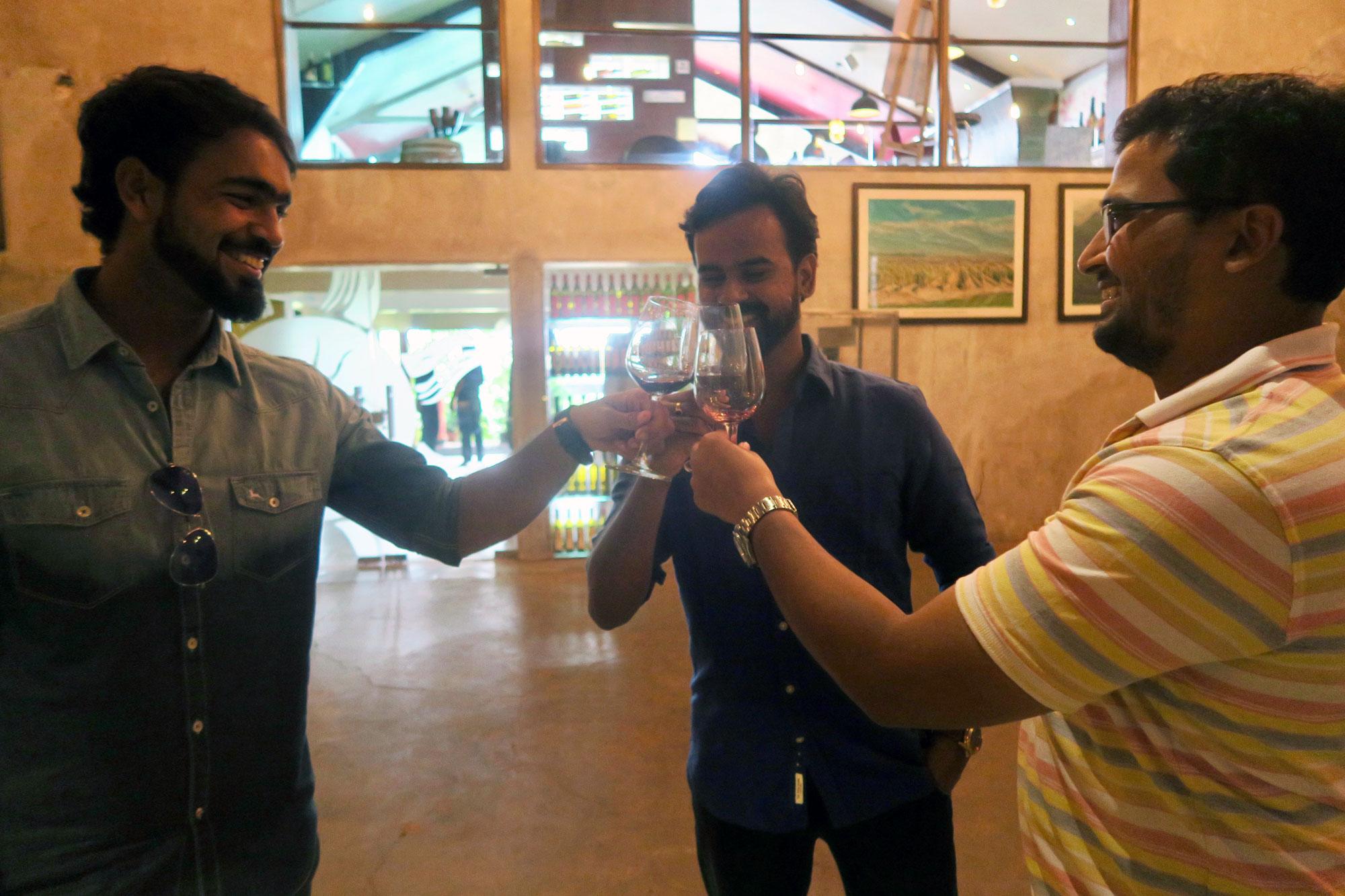 indian-vineyard-L-to-R-Mrunal-Upadhyay,-Siddesh-Hattargi,-Sanket-Shintre-2