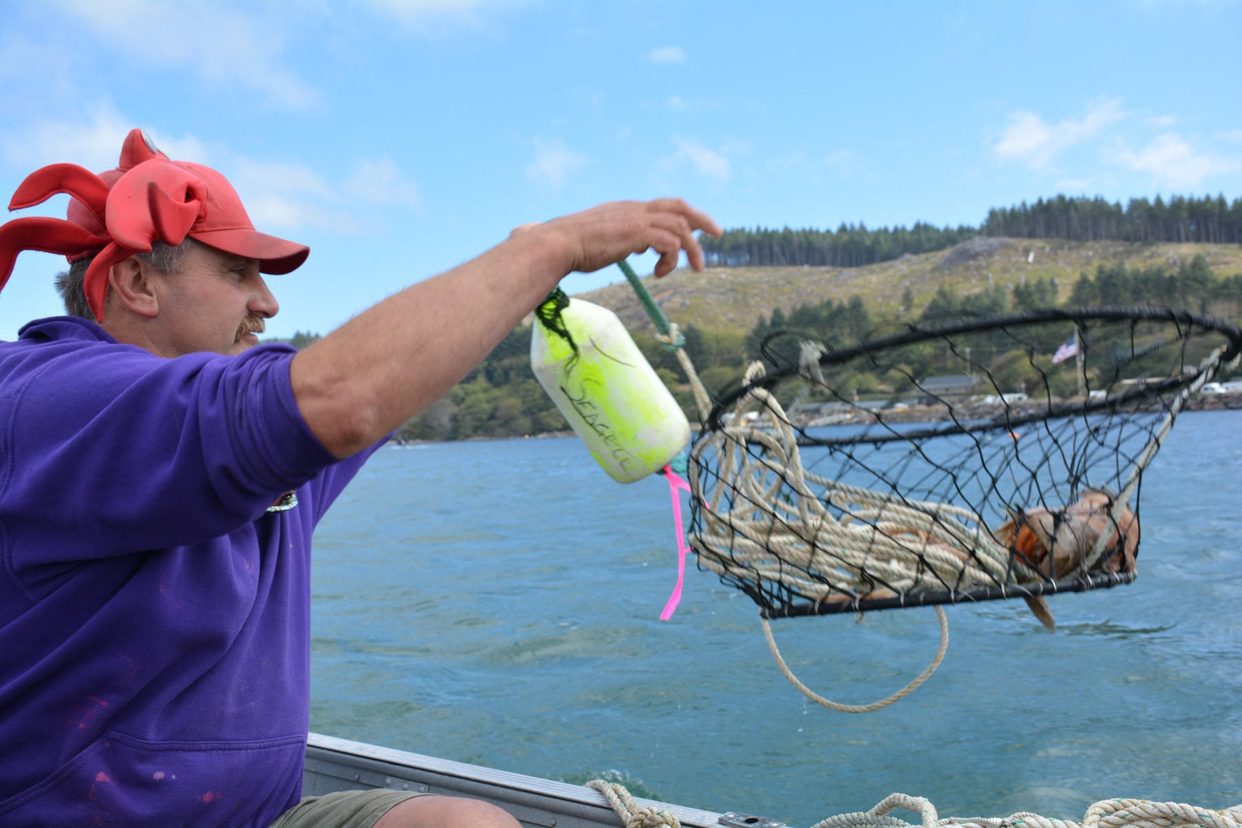 kelly_tossing_a_crab_basket - 1