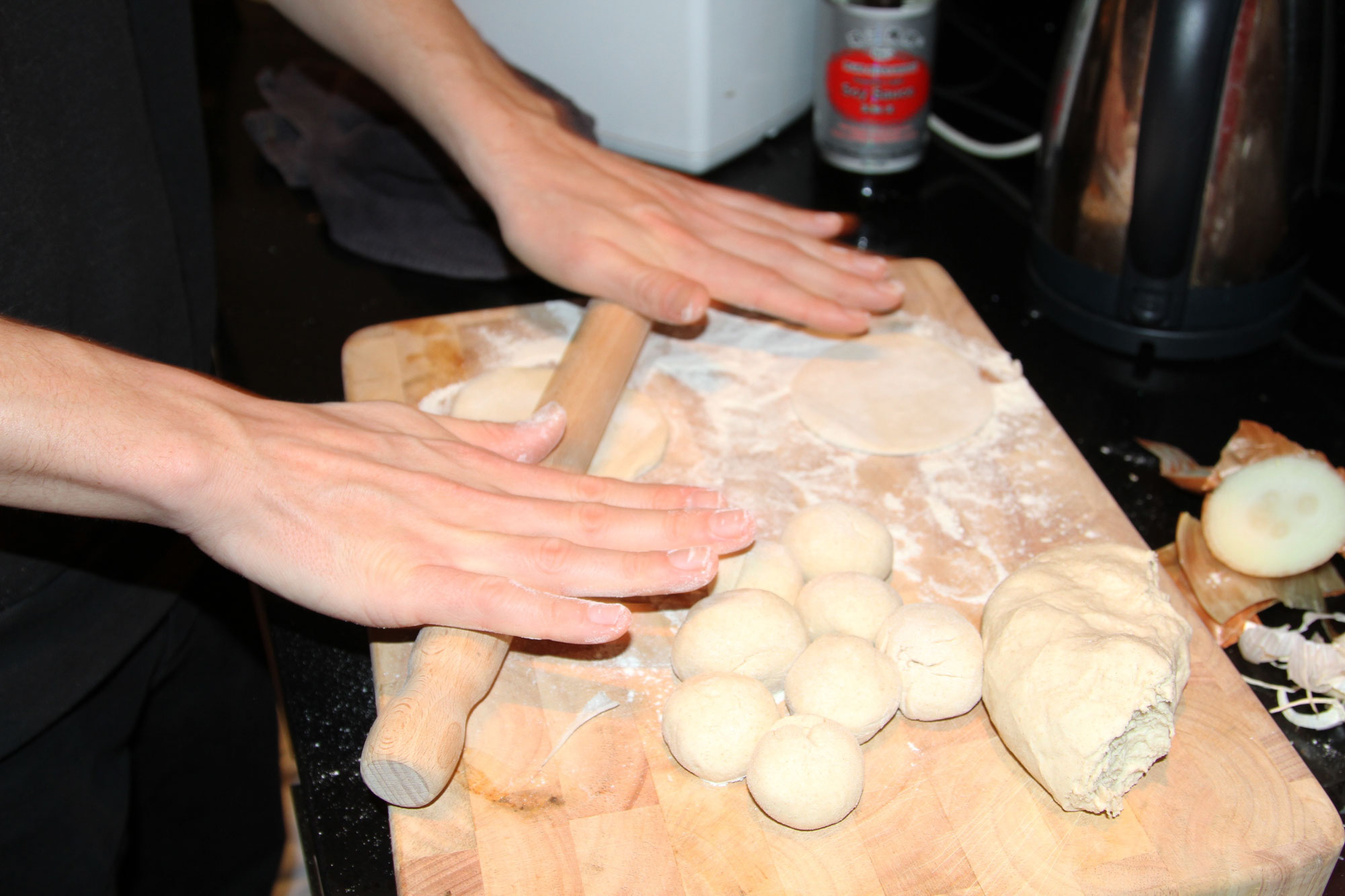 momo-shack-rolling-dough