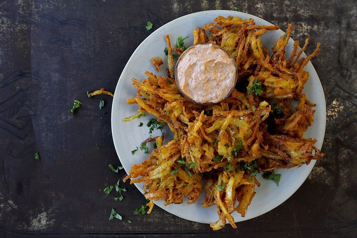 Onion Bhajis with Lime Pickle Recipe