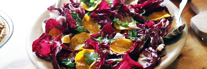 Radicchio and Roasted Beet Salad with Bagna Cauda Dressing | MUNCHIES