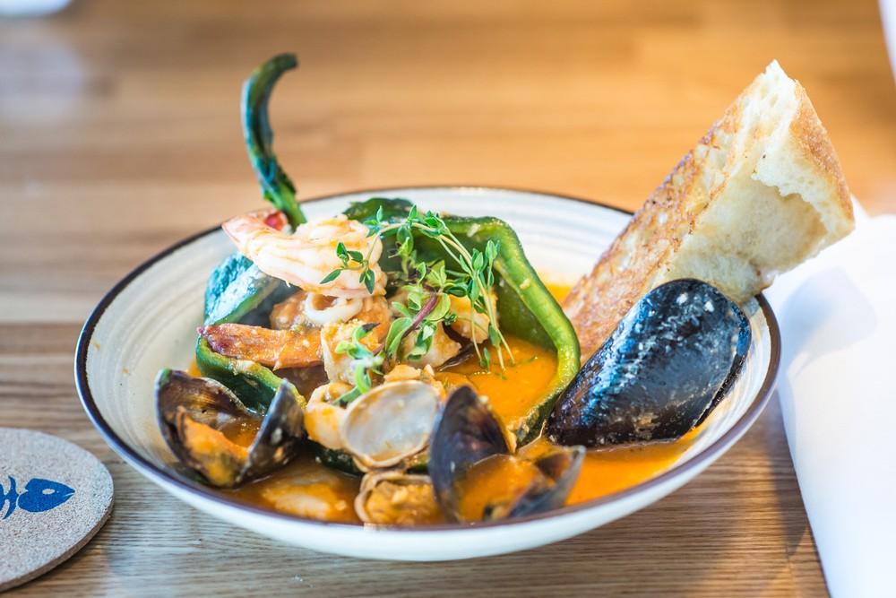seafood chile relleno