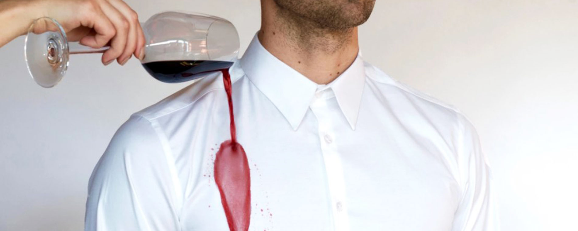 Red wine stains are a thing of the past with this wine for Wine stain white shirt